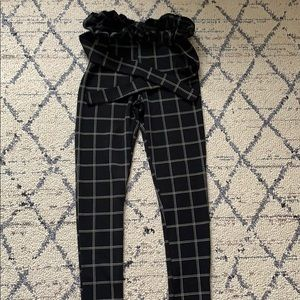 Paperbag checkered trousers
